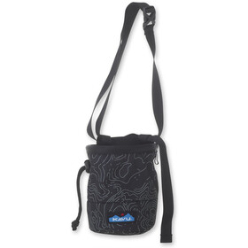KAVU Peak Seeker Chalk Bag black topo
